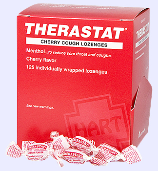 THERASTAT, CHERRY, COUGH LOZENGES, 125'S