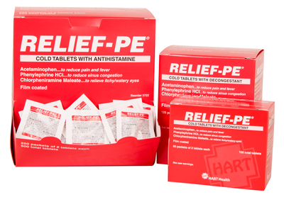 RELIEF-PE in 3 sizes.